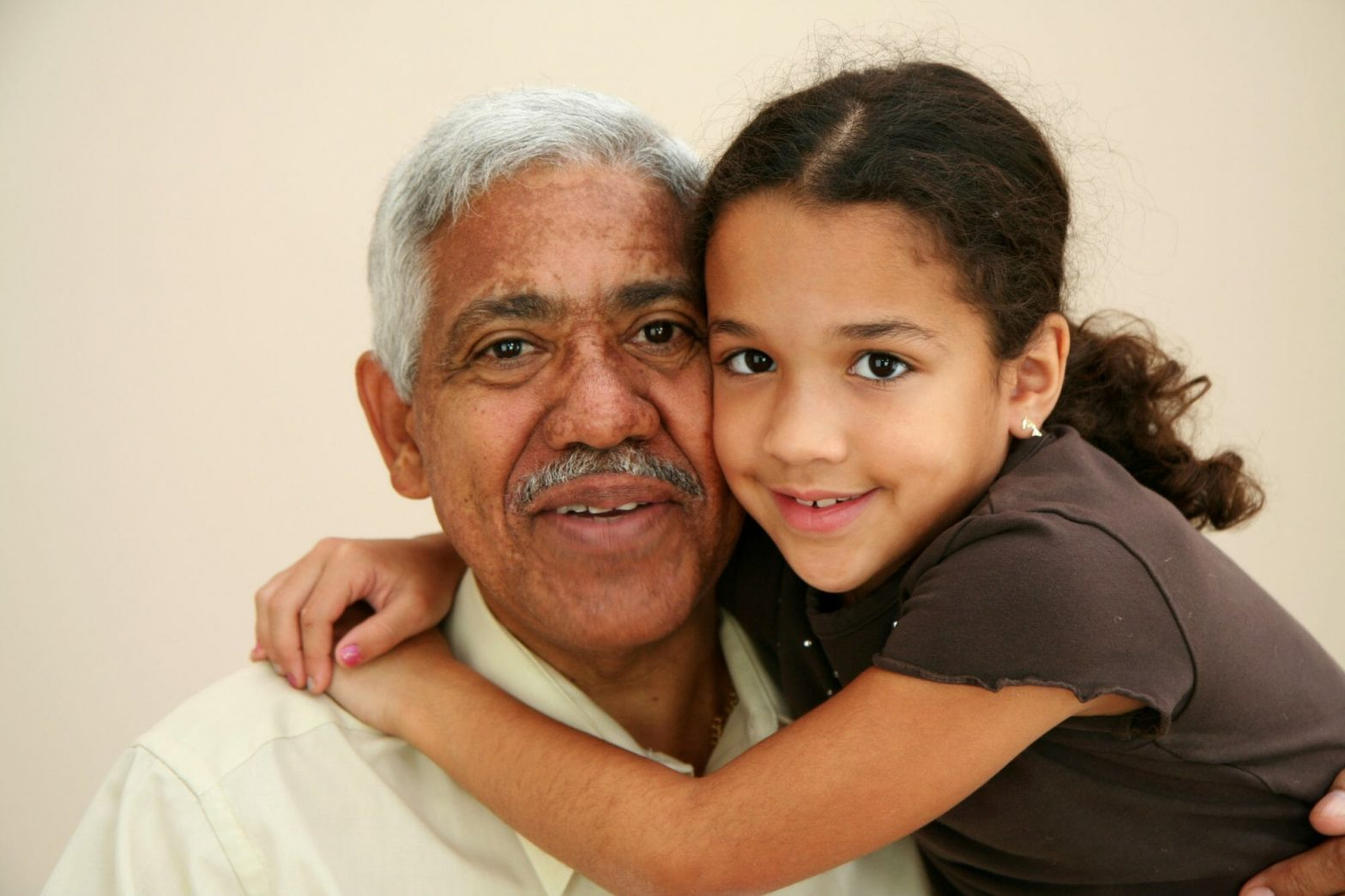 Child with her grandfather